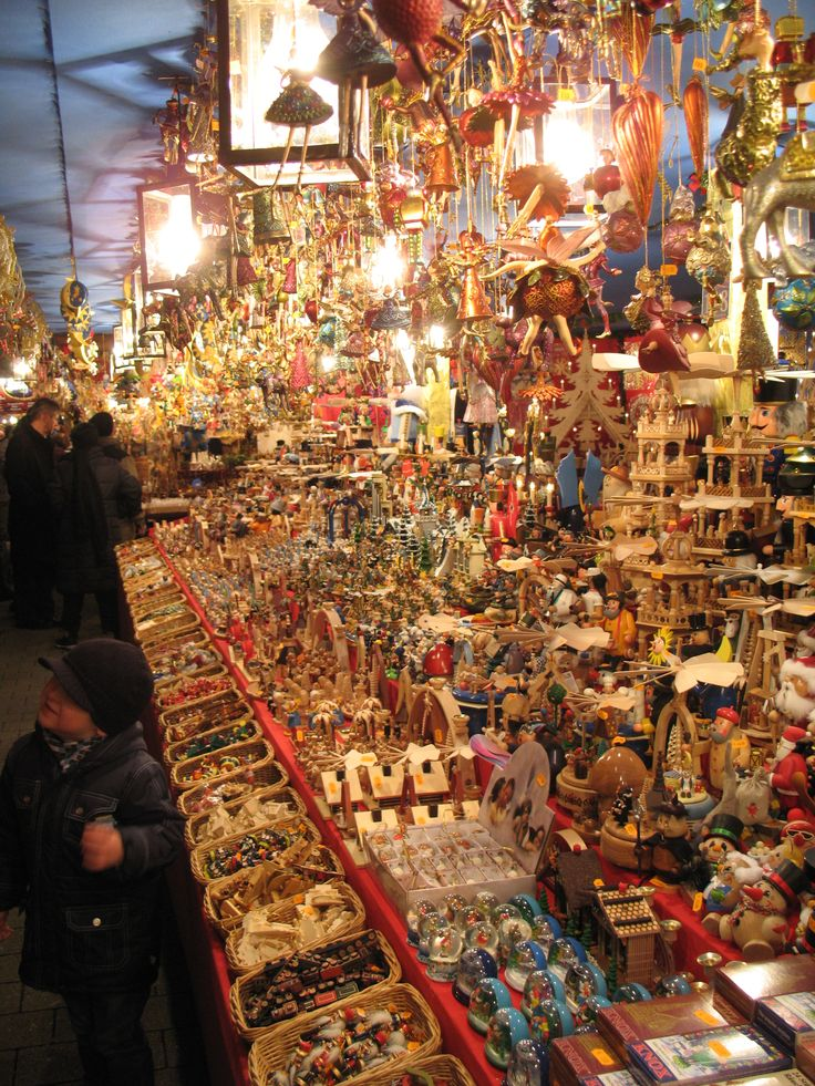 Millions, Literally, of ornaments for the tree can be found at the Nuremberg Christmas market stands. Here is a stand selling these items, November 2013.