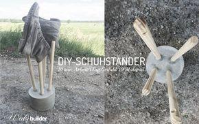 DIY-Schuhständer Simple & schön... Mehr unter: www.weibsbuilder.de