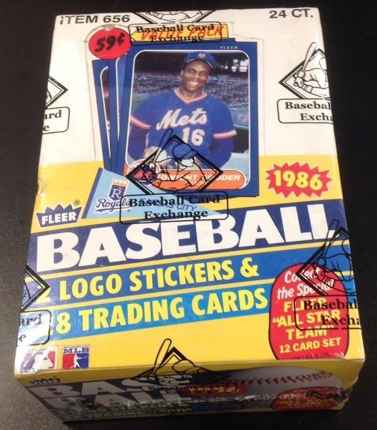 1986 fleer cello baseball unopened wax box bbce wrapped