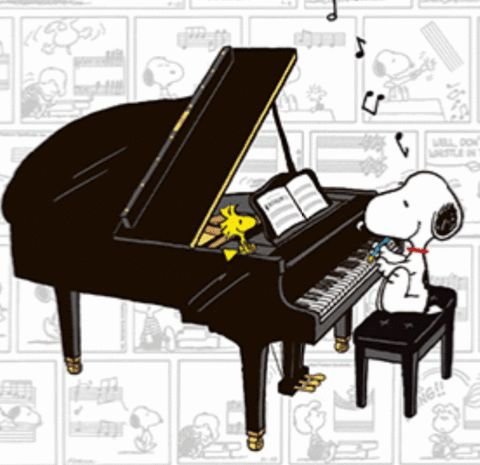 SNOOPY & WOODSTOCK~Schroeder better look out!