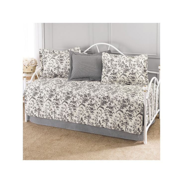 Laura Ashley Amberley 5 Piece Daybed Set - Black/White (Daybed)