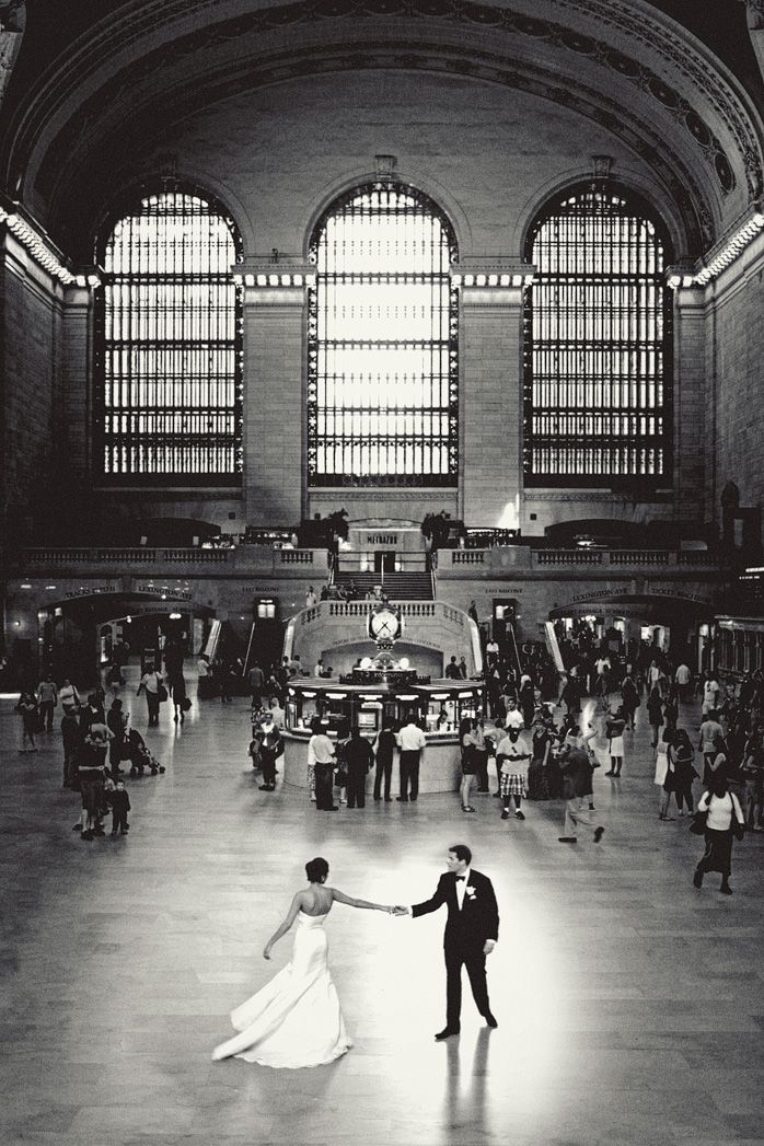 First dance at Grand Central Station. #wedding #weddinginvitations