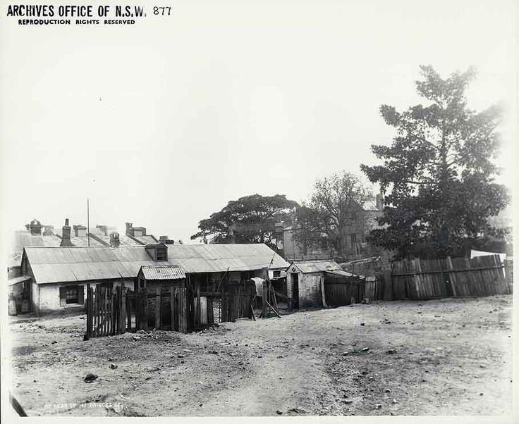 Rear of 141 Princes St. Rocks Resumption photographic survey. 31/10/1901. State Records NSW - Photo Investigator