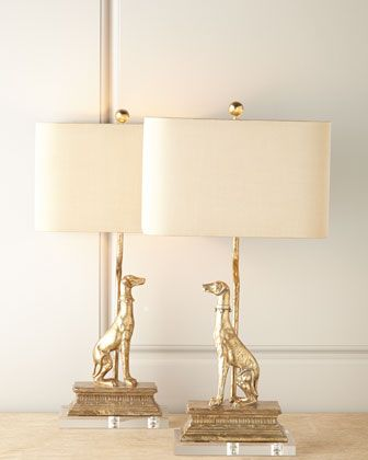 """Regal Dog Table Lamps at Horchow 