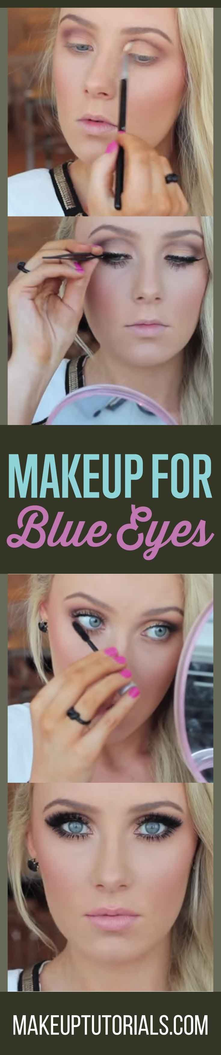 How to do good makeup for blue eyes