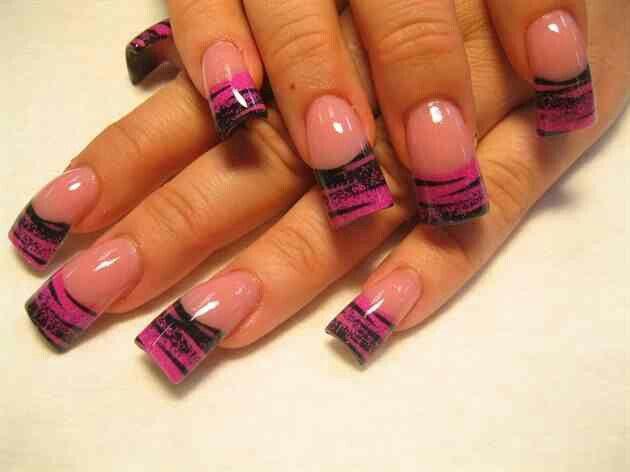 #pink #black #pretty