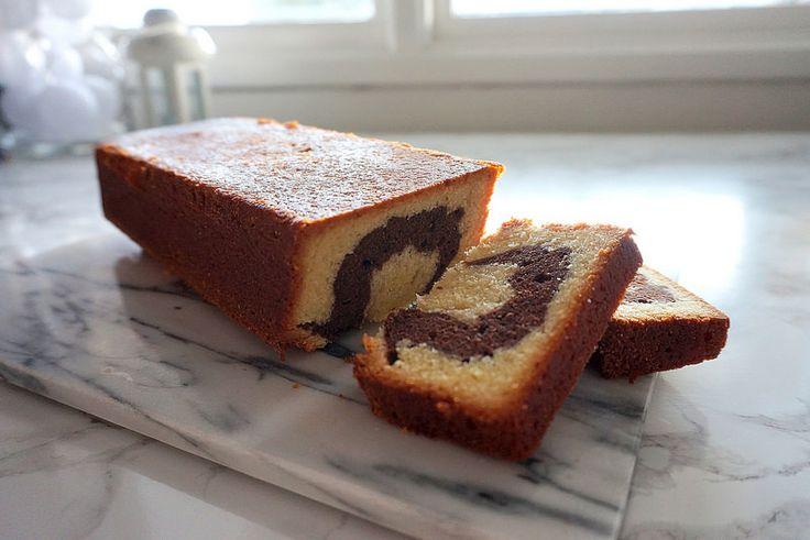Marble cake Read more: http://www.cavegirl.se/tigerkaka/