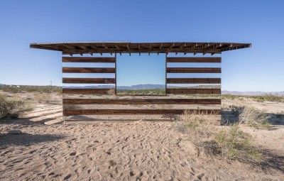 Invisible house in desert. www.shazzarazza.com