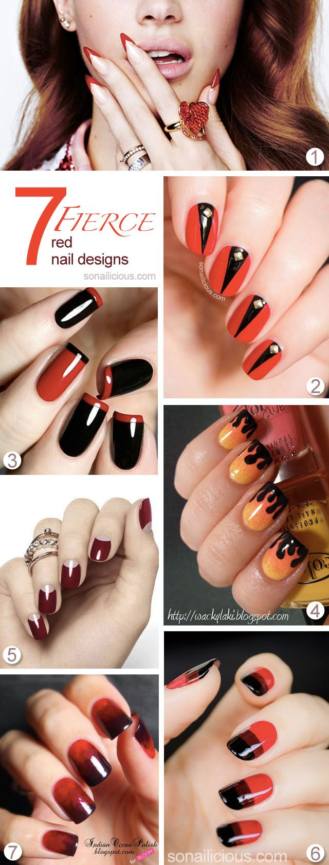 58 best Red Nails images on Pinterest   Nail polish, Red nail and ...