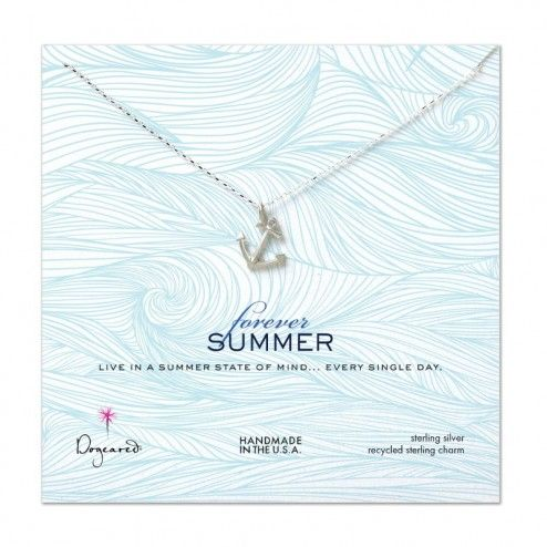 Dogeared Silver Anchor Necklace at aquaruby.com