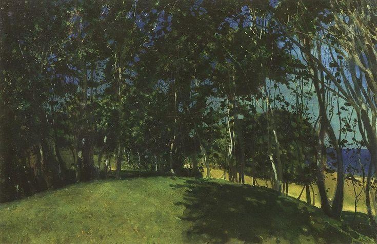 Grove sur le bord de la mer. Sillamyagi, 1900 de Konstantin Somov (1869-1939, Russia)