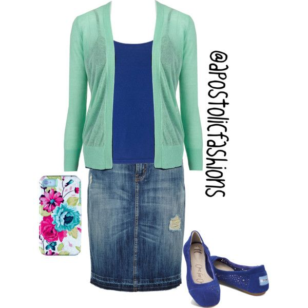 Apostolic Fashions #323 by apostolicfashions on Polyvore featuring Apt. 9, Current/Elliott and TOMS