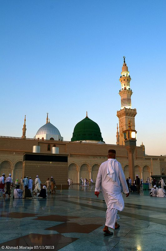 Pilgrims at  Al-Masjid Al-Nabawi (The Prophet's Mosque)