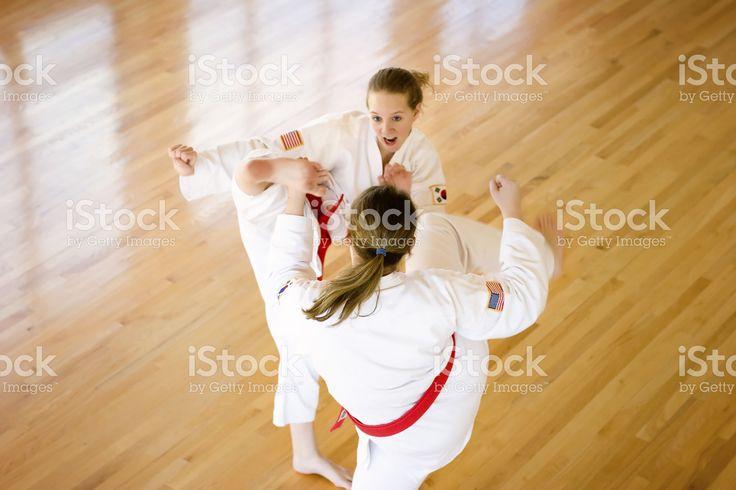 Arti marziali calcio. foto stock royalty-free