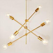 Colgando del techo de oro droplight post modern linear ajustable línea de oro colgante de luz de la lámpara para la sala comedor dormitorio(China)