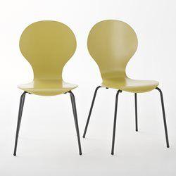 "2er-Set Stühle ""Watford"", stapelbar La Redoute Interieurs - Stuhl"