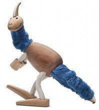 Anamalz Parasaurolophus wooden toy figure   www.minizoo.com.au