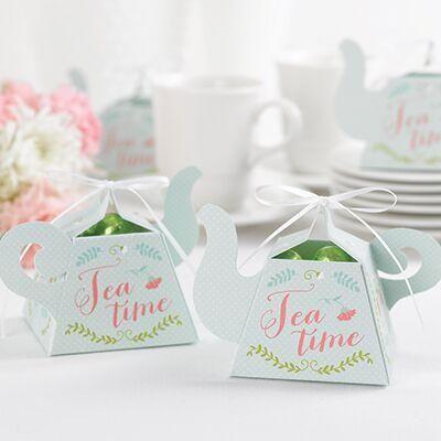 adorable teapot wedding party favor boxbridal showers spring weddings