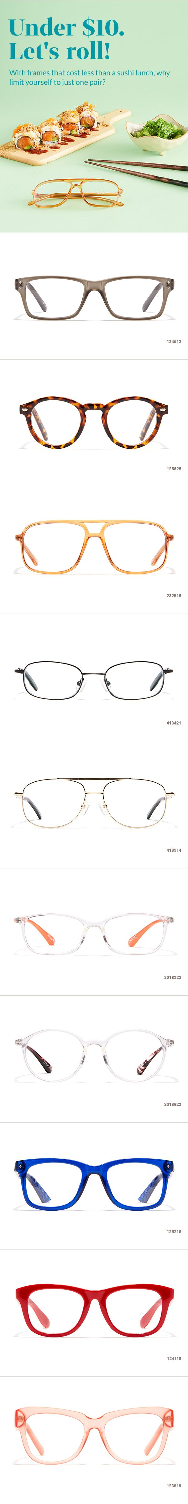 Stylish frames under $10. Let's roll!