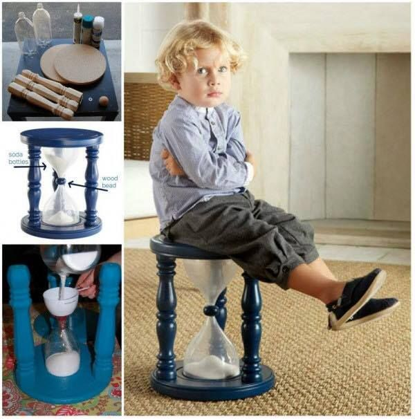 Make a Time Out Stool using empty soda bottles. Neat idea!