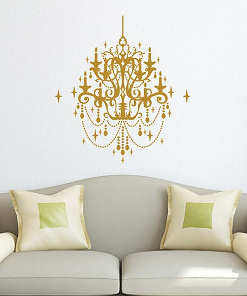 Take a look at the gold sparkly chandelier decal on zulily today take a look at the gold sparkly chandelier decal on zulily today kid spaces pinterest chandeliers adhesive and ceiling aloadofball Gallery