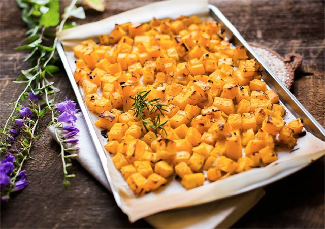 This recipe for roasted butternut squash comes from The Alternative Autoimmune Cookbook and is a great way to fancy up a simple dish #aip #autoimmune #paleo
