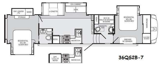2 Bedroom 5th Wheel Bedroom At Real Estate Rv Floor Plans Rv Rv Living
