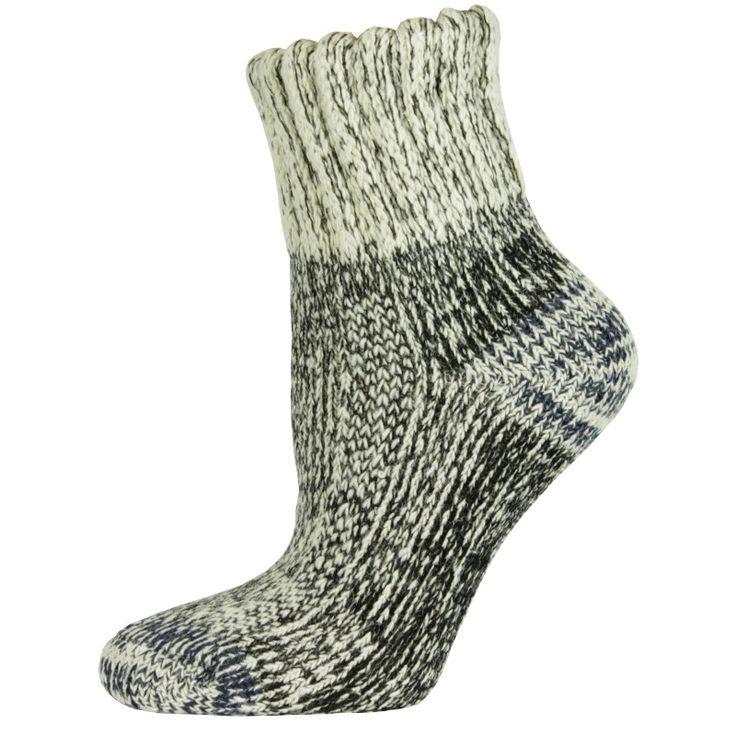 Korte wollen sokken - 6.95  Lekker warm en dik.