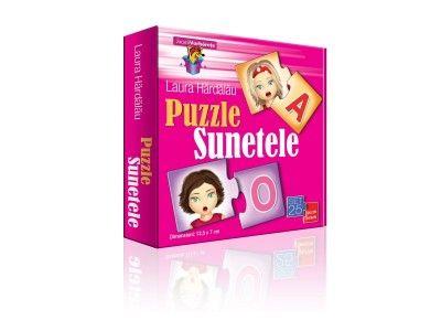 Puzzle Sunetele (set 25 puzzle-perechi) Reprezintă un suport vizual care va ajuta copilul să înţeleagă mai uşor modalitatea de pronunţie a sunetelor. Învăţarea sunetelor se va transforma astfel într-o activitate distractivă. Jocul stimuleaza operaţiile gandirii, ajuta la insusirea notiunilor de culoare si la imbunatatirea motricitatii fine. http://jucarii-vorbarete.ro/produs/puzzle-sunetele/