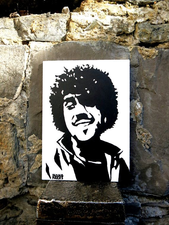 Hand painted acrylic piece of art of Phil Lynott . by MONOFACES, €14.00
