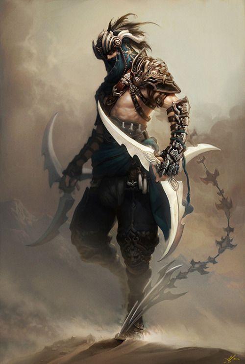 Spass und spiele assassin character design male ninja - Fantasy female warrior artwork ...