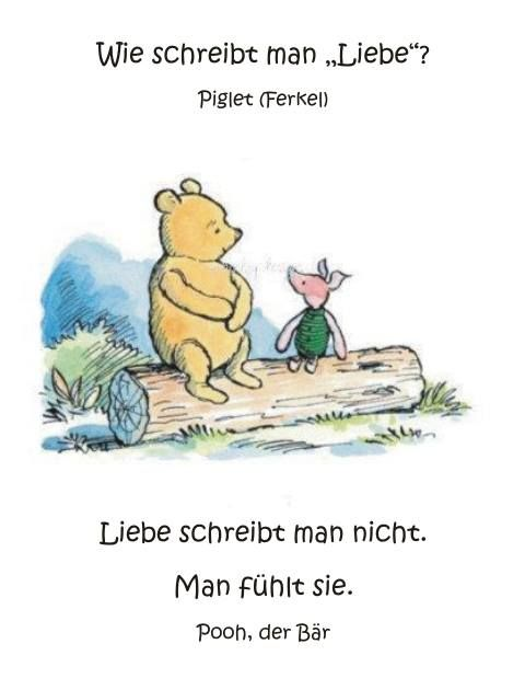 Liebe  (pooh bär)  how do you spell love