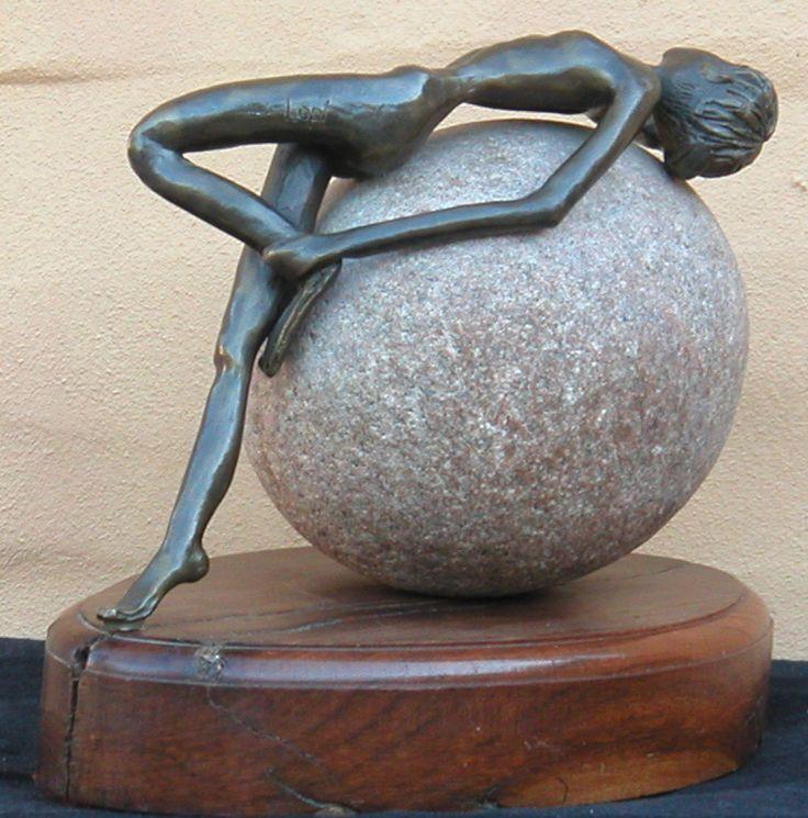 Bronze on Swakopmund rock