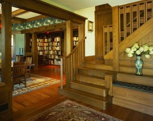 Best Arts Crafts Staircases Images On Pinterest Craftsman
