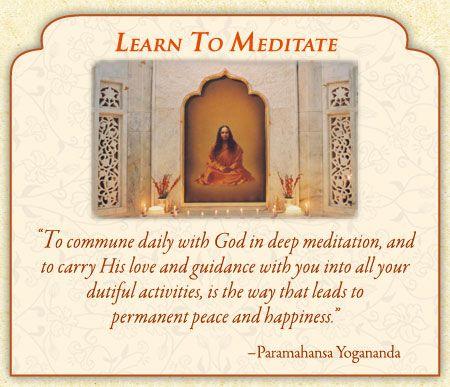 Learn to Meditate: Self-Realization Fellowship