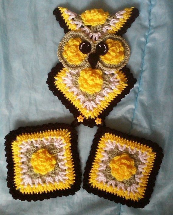 No Refunds On Digital Patterns this is a pattern only of the owl potholder holder