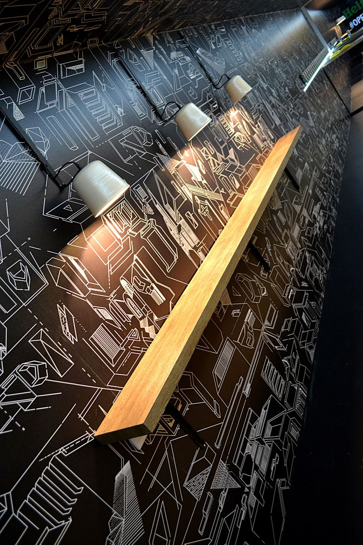 A different angle of Atang's charcoal construct wallpaper for the Heiniken Sleek project that we did with Leg Studio.