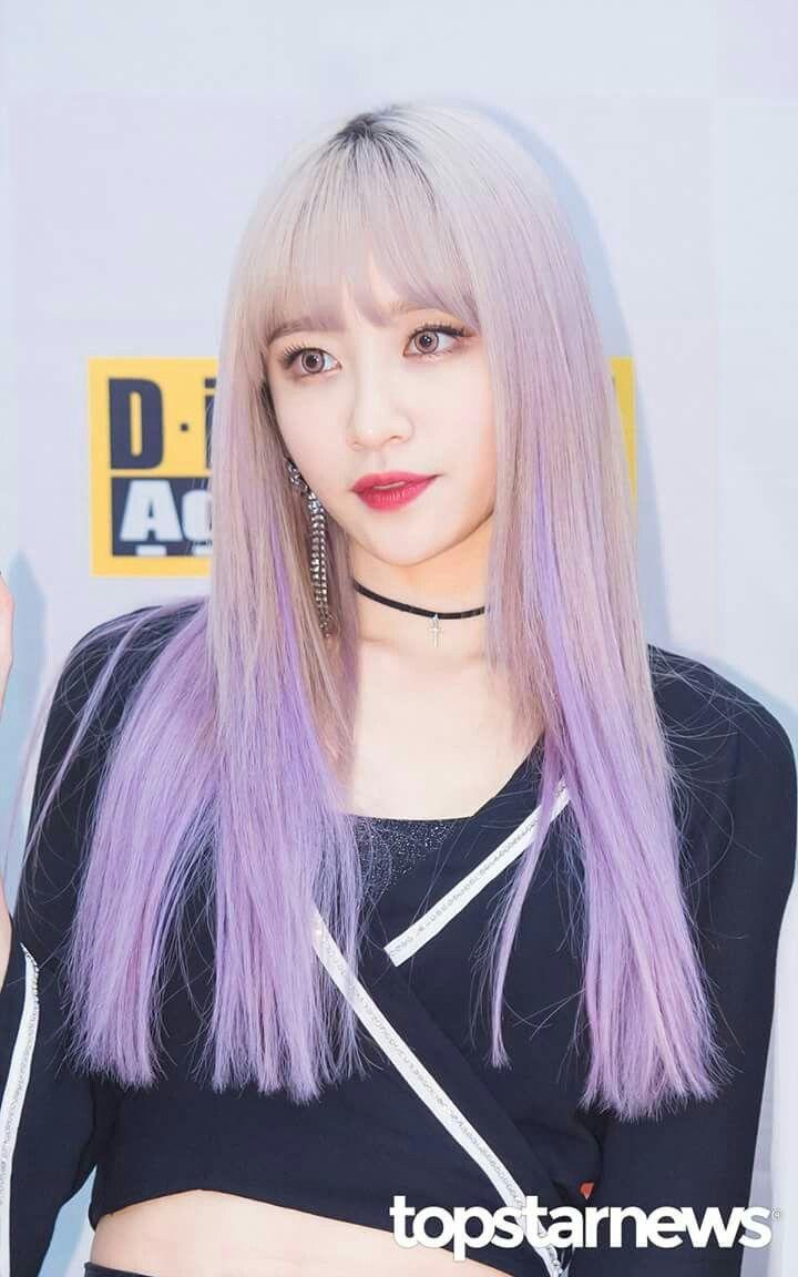 Weareoneidols Hani Exid Hair Lavender Beautiful Kpop Idol Kpop Hair Color Hani Girl Hair Colors