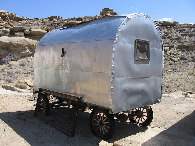 Old Sheep Wagon, Via Flickr.