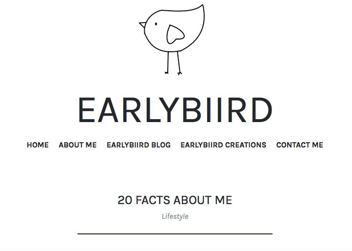 https://earlybiirdblog.com/2016/12/03/20-facts-about-me/