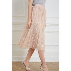 97706ea058 Sequin Midaxi Skirt in Rose Quartz from Needle & Thread | Needle & Thread