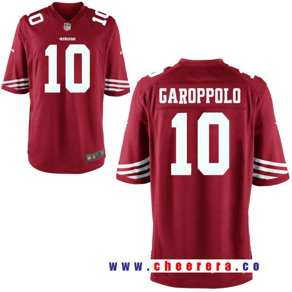 cheap for discount 73404 308e2 Men's San Francisco 49ers #10 Jimmy Garoppolo Scarlet Red ...