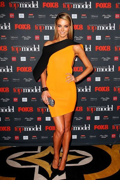 Jennifer Hawkins - 'Australia's Next Top Model' Season 8 Launch - yellow dress