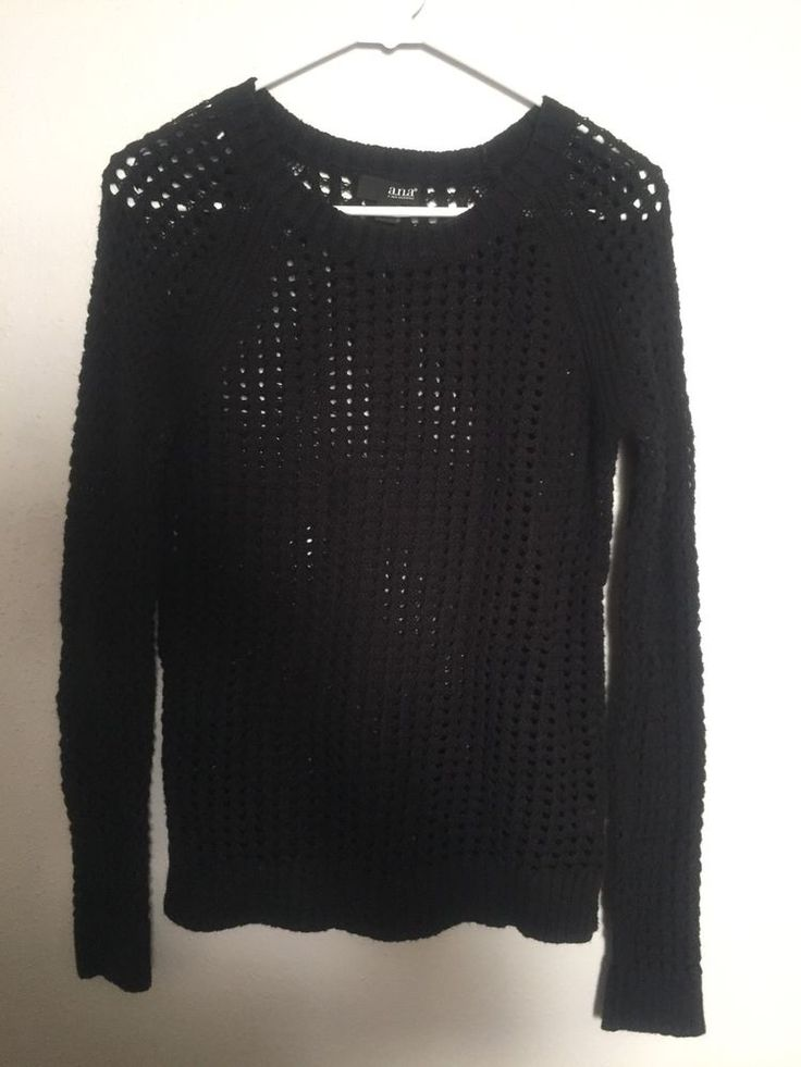A.N.A Black  Small Sheer Blouse #ana #Blouse