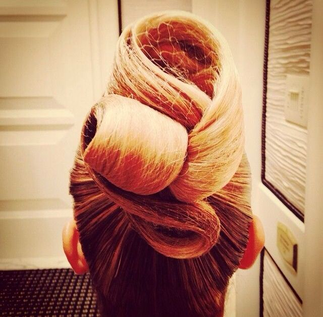Ballroom competition hair - I really want to try a knot or swoop on someone