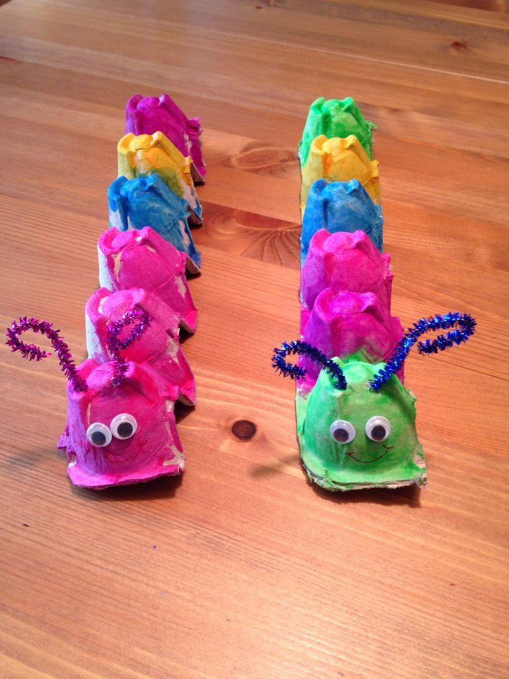 Egg Carton Caterpillar Craft - Spring Craft - Preschool Craft