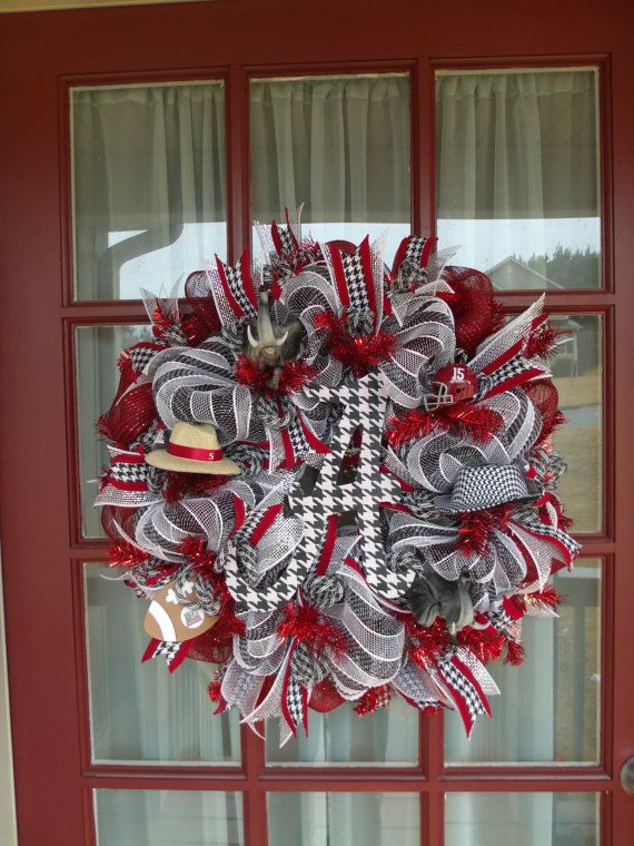 Hey, I found this really awesome Etsy listing at https://www.etsy.com/listing/170815547/alabama-crimson-tide-deco-mesh-door