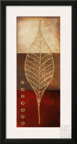 Fossil Leaves II Framed Art Print by Patricia Pinto at Art.com