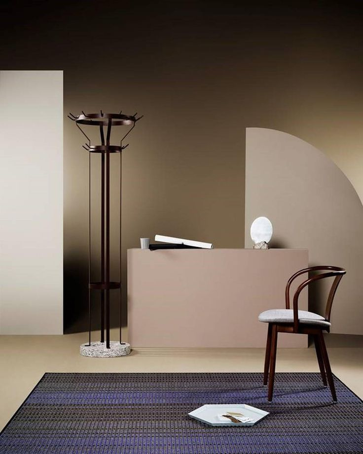Massproductions - Icha Chair and Marcel Coat Stand