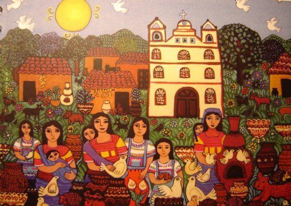'Mujeres Amatenango', Beatriz Aurora / EZLN, pintura, arte zapatista
